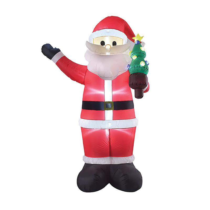 2.4 METRE INFLATABLE LIGHT UP SANTA