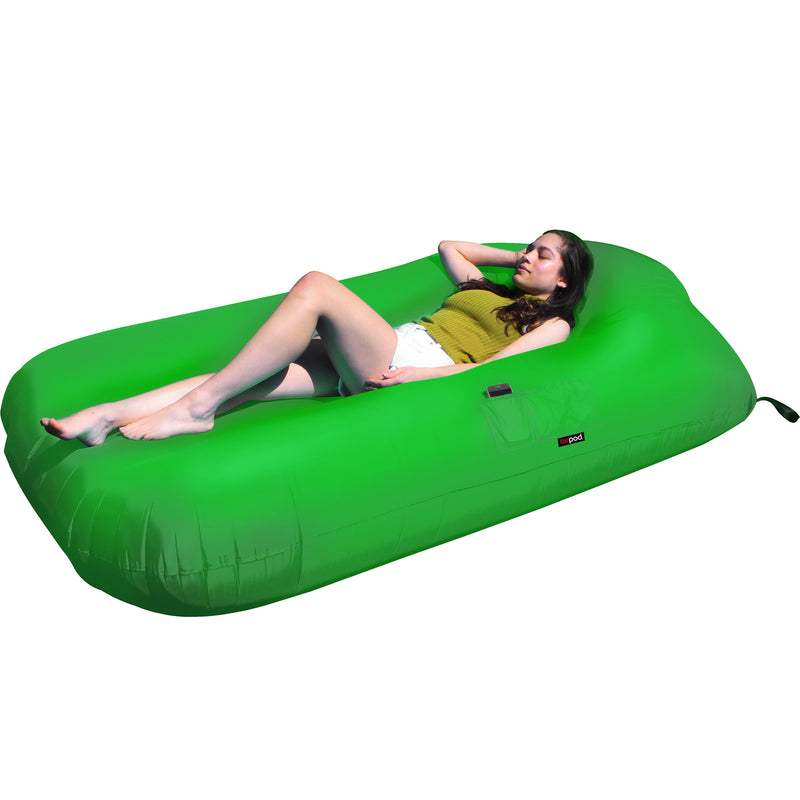 AIR POD AIR BED 230X120X35CM GREEN