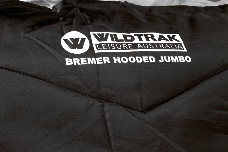 BREMER HOODED JUMBO SLEEPING BAG 230X90CM 0 TO -5C