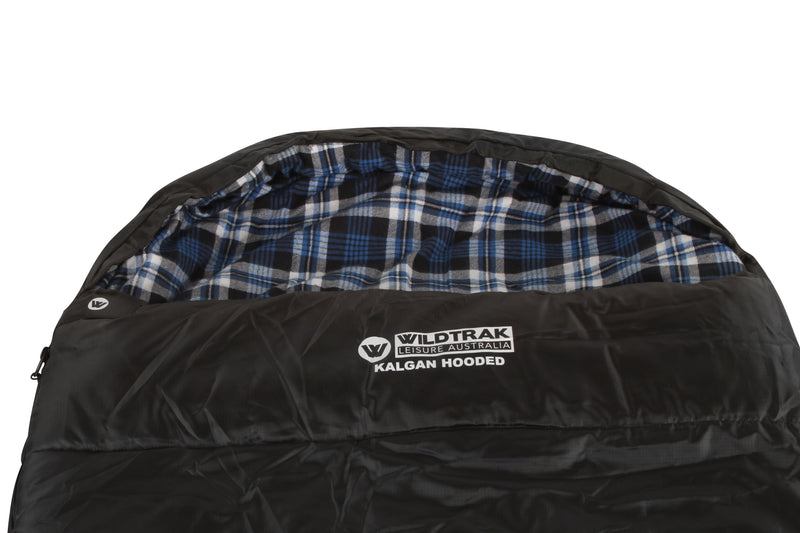 KALGAN HOODED SLEEPING BAG 220 X80CM -2 TO -7C