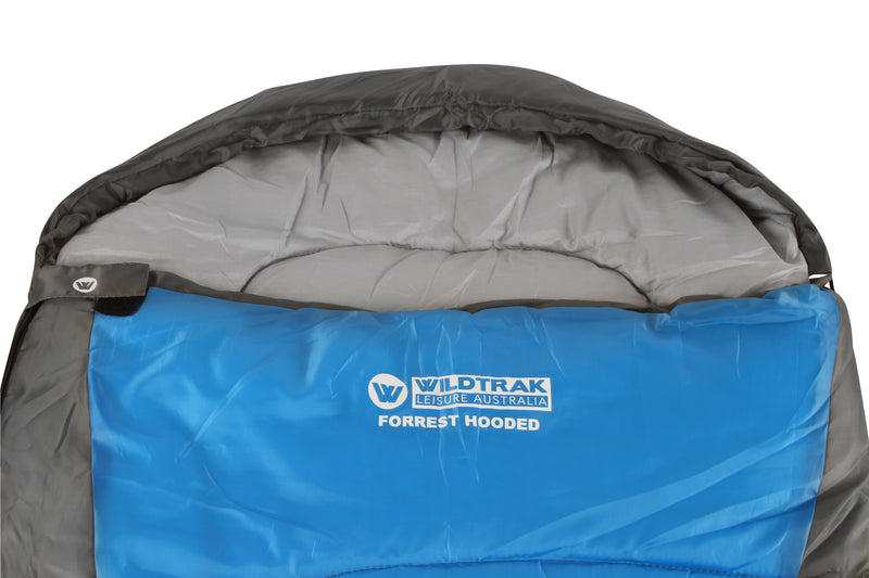 FORREST HOODED SLEEPING BAG 230X75CM 5 TO 10C