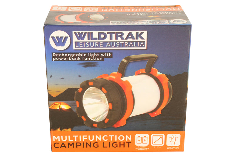 MULTIFUNCTION CAMPING LIGHT RECHARGEABLE BATTERIES & USB