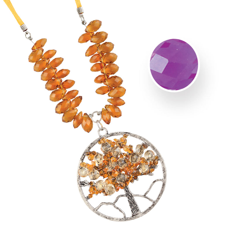 TREE OF LIFE FEBRUARY AMETHYST NECKLACE