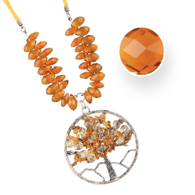 TREE OF LIFE NOVEMBER TOPAZ NECKLACE