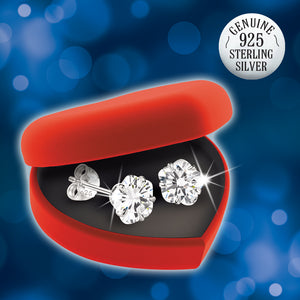 GENUINE STERLING SILVER STUD EARRINGS