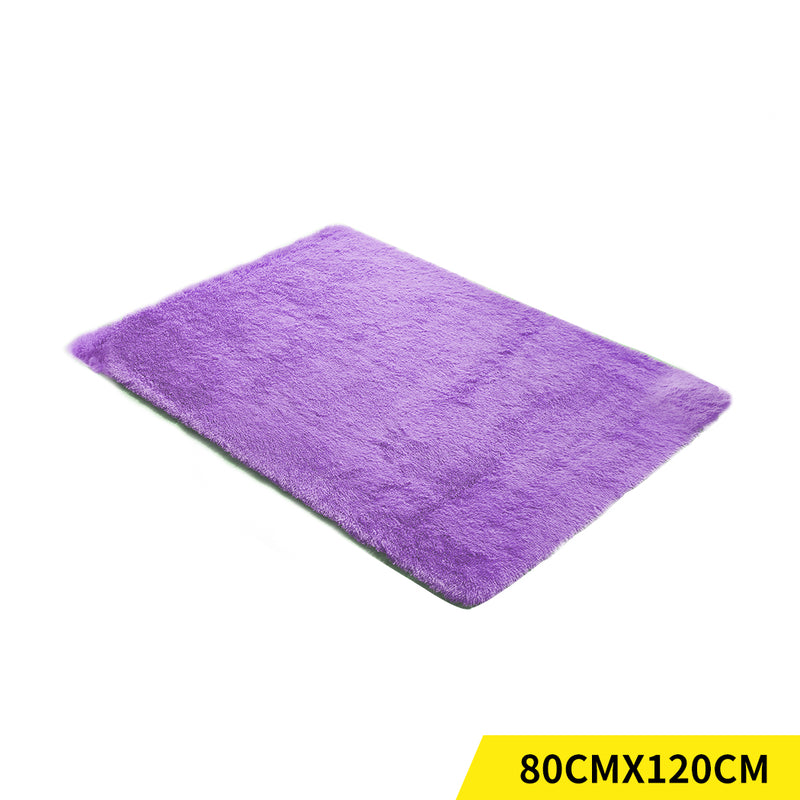 Designer Soft Shag Shaggy Floor Confetti Rug Carpet Home Decor 80x120cm Purple