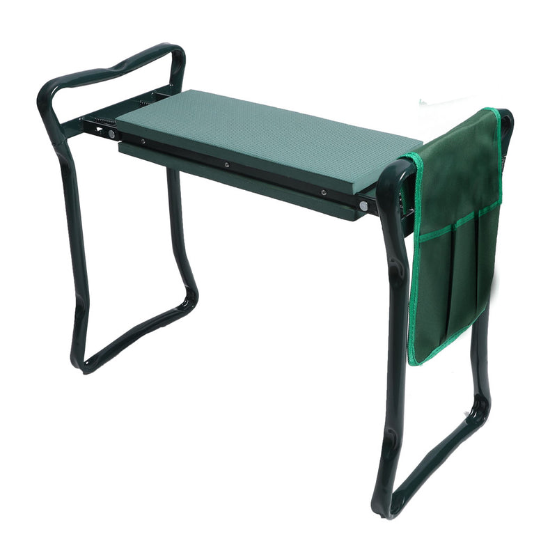 Outdoor Foldable Garden Kneeler Seat with Tool Pouch Portable Bench Cushion Pad