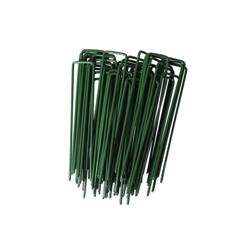 200PCS Synthetic Artificial Grass Turf Pins U Fastening Lawn Tent Pegs Weed Mat