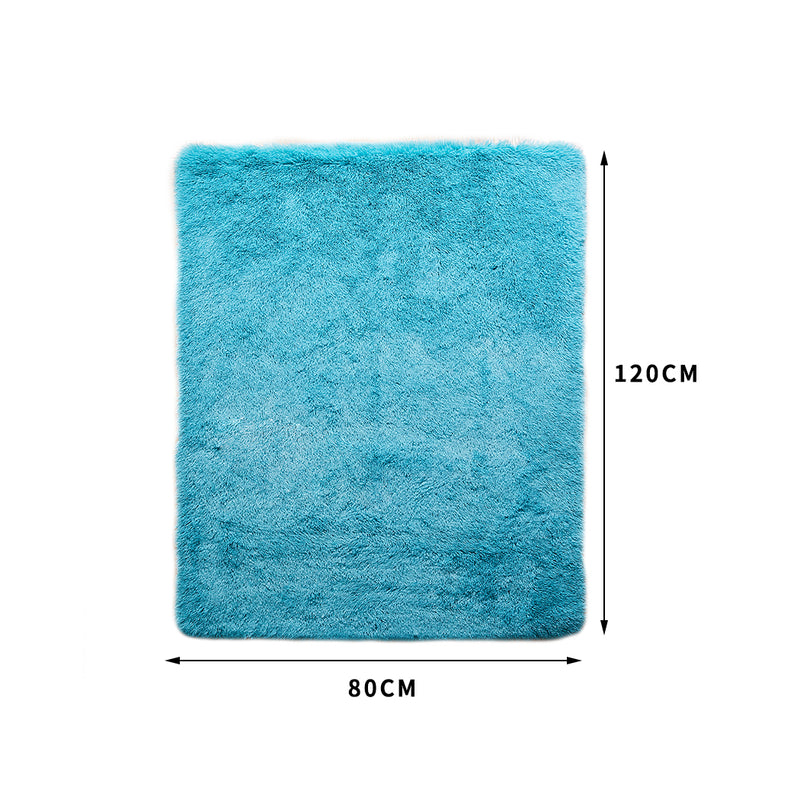 Designer Soft Shag Shaggy Floor Confetti Rug Carpet Home Decor 80x120cm Blue