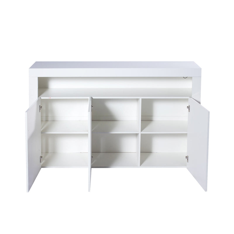 Levede Buffet Sideboard Cabinet Storage Modern High Gloss Furniture  White