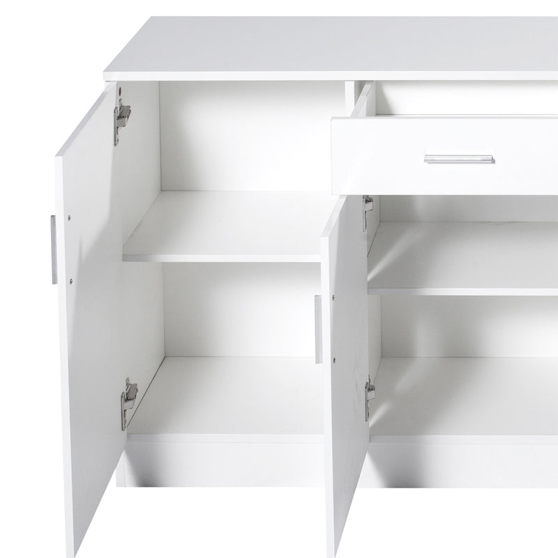 Levede Buffet Sideboard Storage Cabinet Artiss High Gloss Cupboard Drawers White