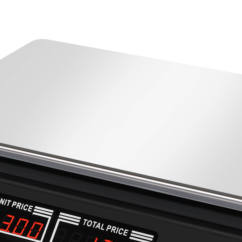 Commercial Digital Kitchen Scales LCD Shop 40KG Food Weight Electronic Scale