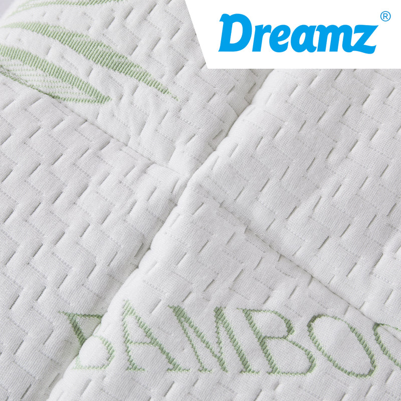 Dreamz Bamboo Pillowtop Mattress Topper Protector Waterproof Cool Cover Double