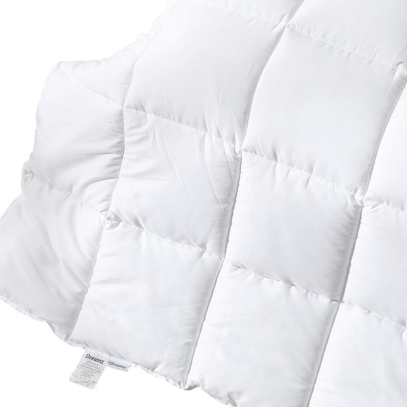 DreamZ 400GSM All Season Bamboo Winter Summer Quilt Duvet Doona Soft King Single