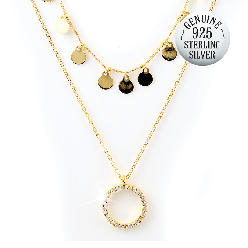 DANICA GOLD PLATED NECKLACE + FREE SURPRISE EARRINGS