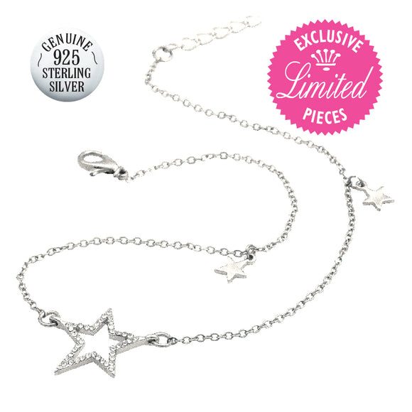 STERLING SILVER STARLIGHT NECKLACE