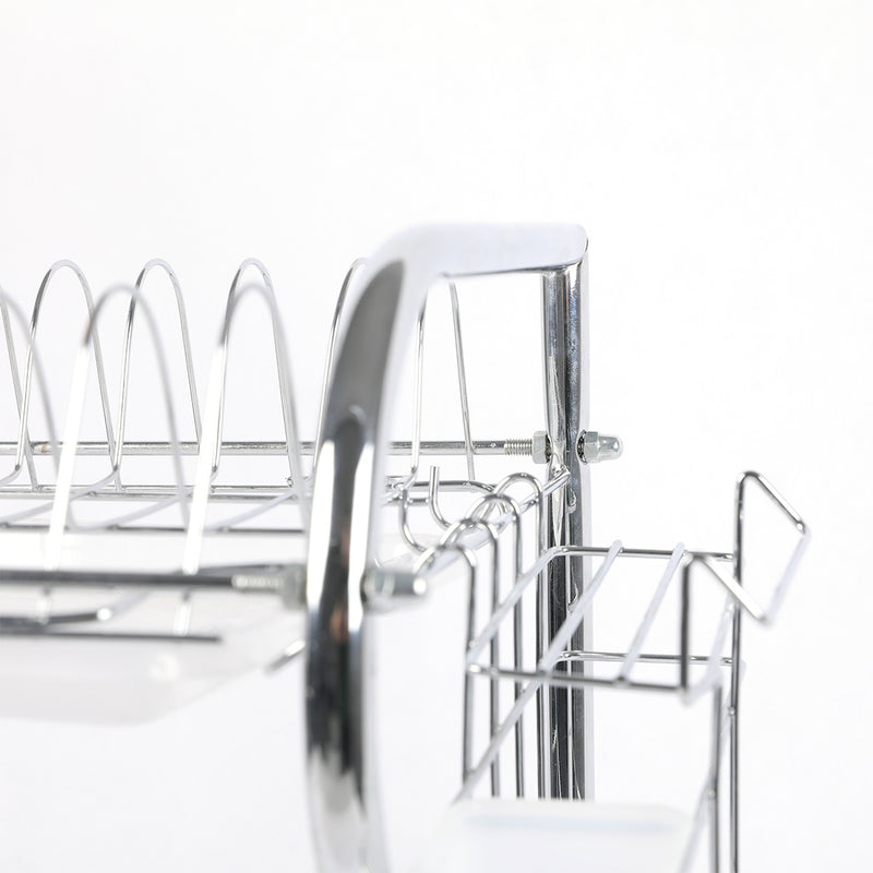 3 Tier Stainless Steel Dish Rack Drainer Tray Kitchen Storage Cup Cutlery Holder