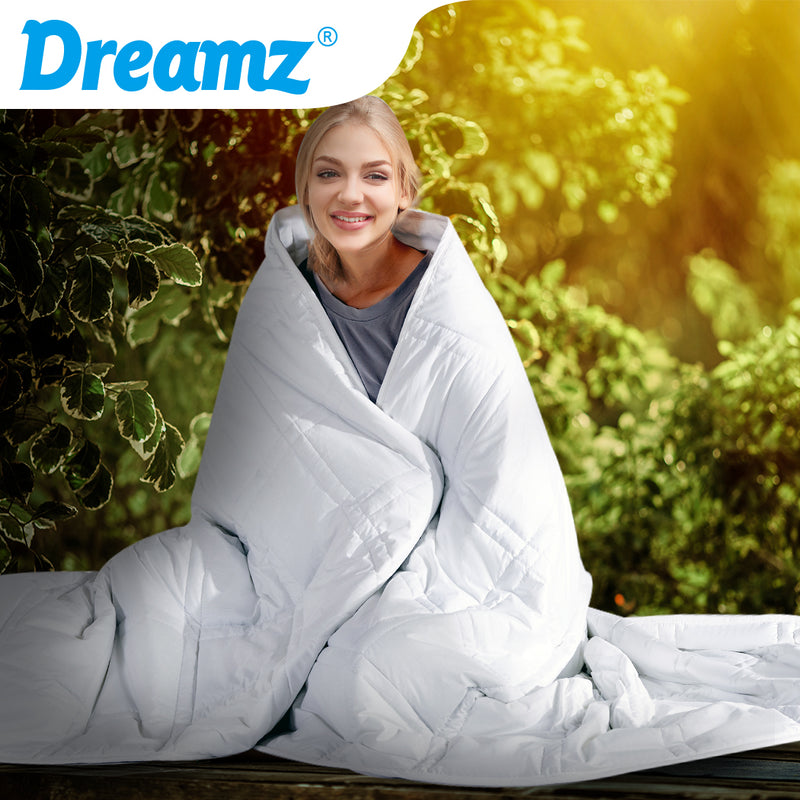 DreamZ Weighted Blanket Summer Cotton Heavy Gravity Adults Deep Relax Relief 5KG