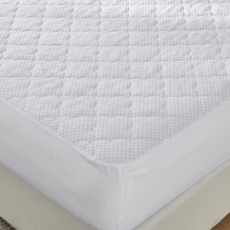 Dreamz Mattress Protector Topper Cool Fabric Pillowtop Waterproof Cover Single