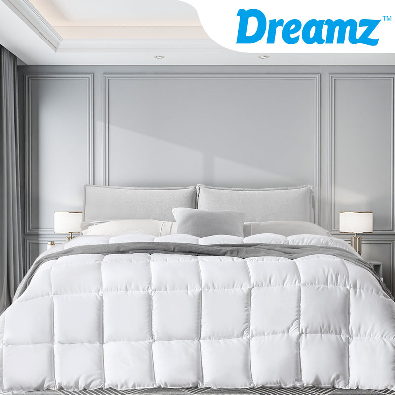 DreamZ 400GSM All Season Bamboo Winter Summer Quilt Duvet Doona Soft Singe Size