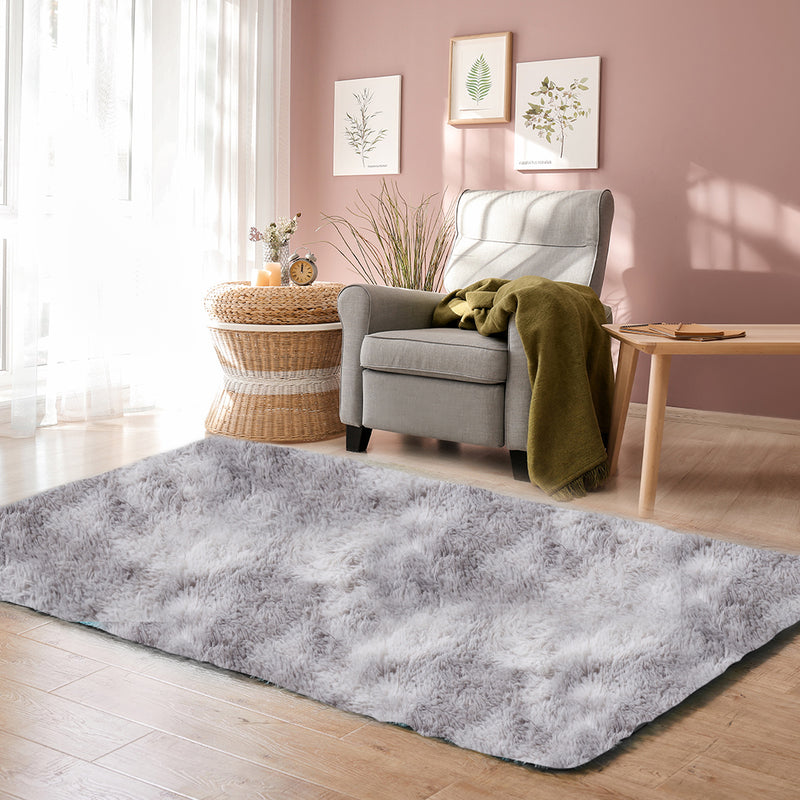 Floor Rug Shaggy Rugs Soft Large Carpet Area Tie-dyed Mystic 120x160cm