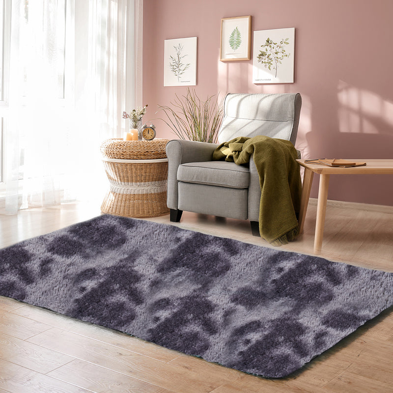 Floor Rug Shaggy Rugs Soft Large Carpet Area Tie-dyed Midnight City 140x200cm
