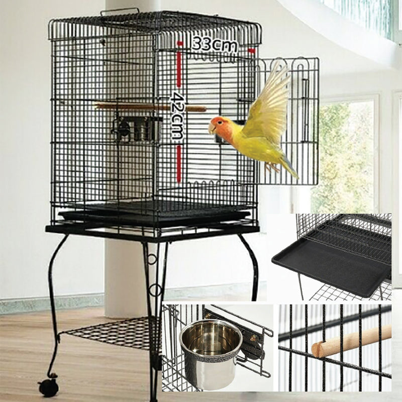 SQUARE TOP 145CM BIRDCAGE AND STAND