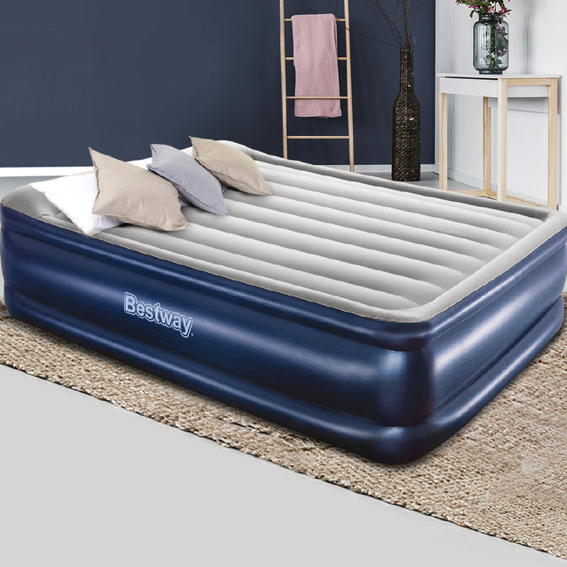56CM HIGH QUEEN AIR MATTRESS WITH BUILT-IN AIR PUMP