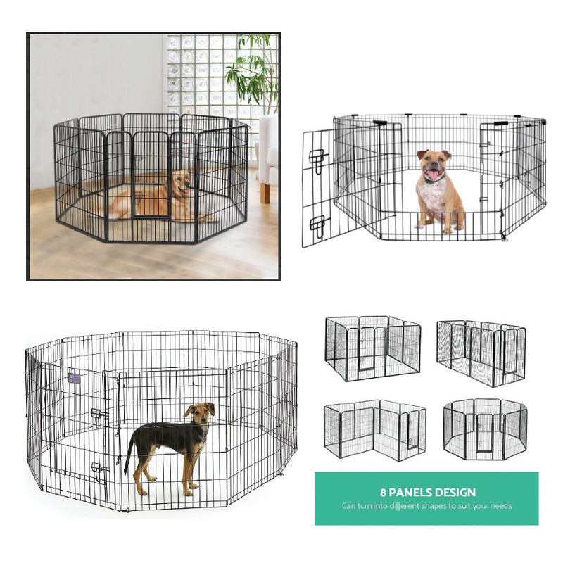 36 INCH HIGH 8 PANEL MULTI FORMAT METAL PET PLAYPEN
