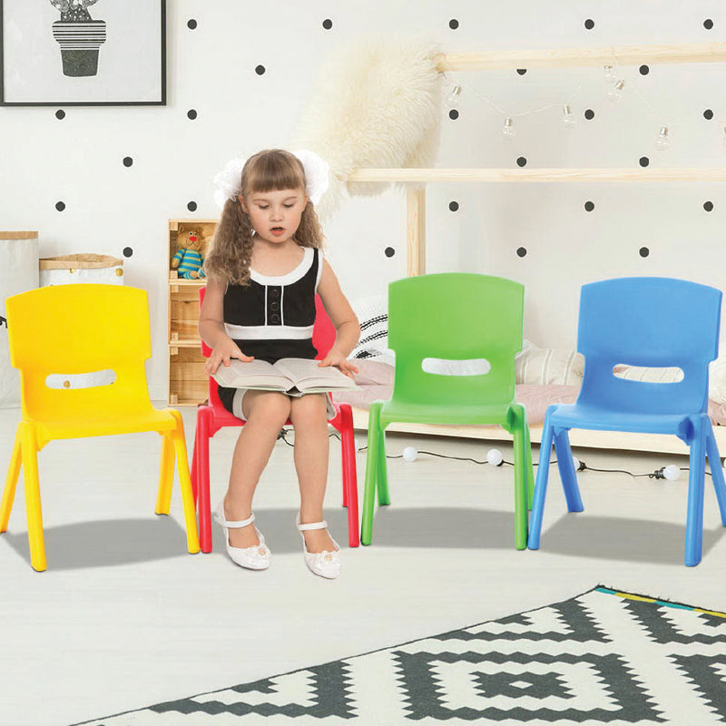 SET OF 4 KIDS PLASTIC PLAY CHAIRS