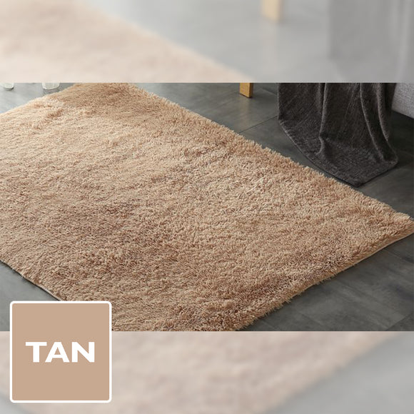 TAN SHAGGY RUG