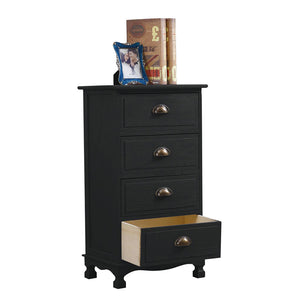 BLACK 4 DRAWER CABINET