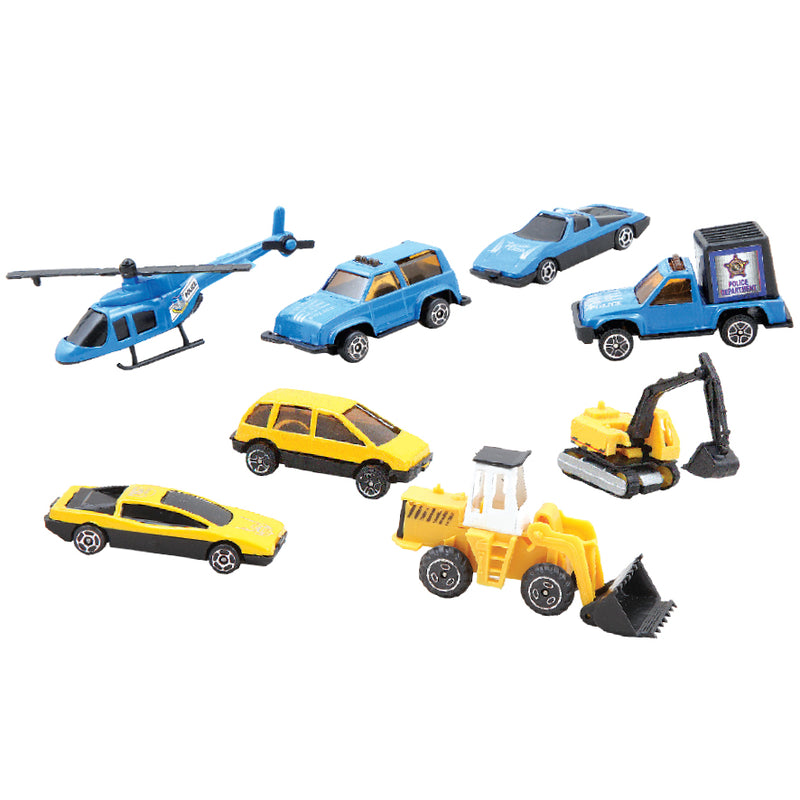 8-PIECE 'WORKFORCE' METAL TOY CARS