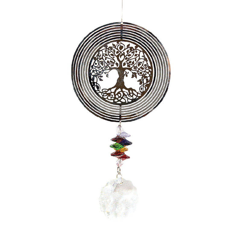 LARGE TREE OF LIFE CRYSTAL SUNCATCHER