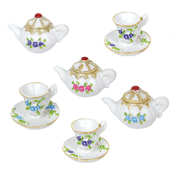 SET OF 6 MINIATURE TEA SETS
