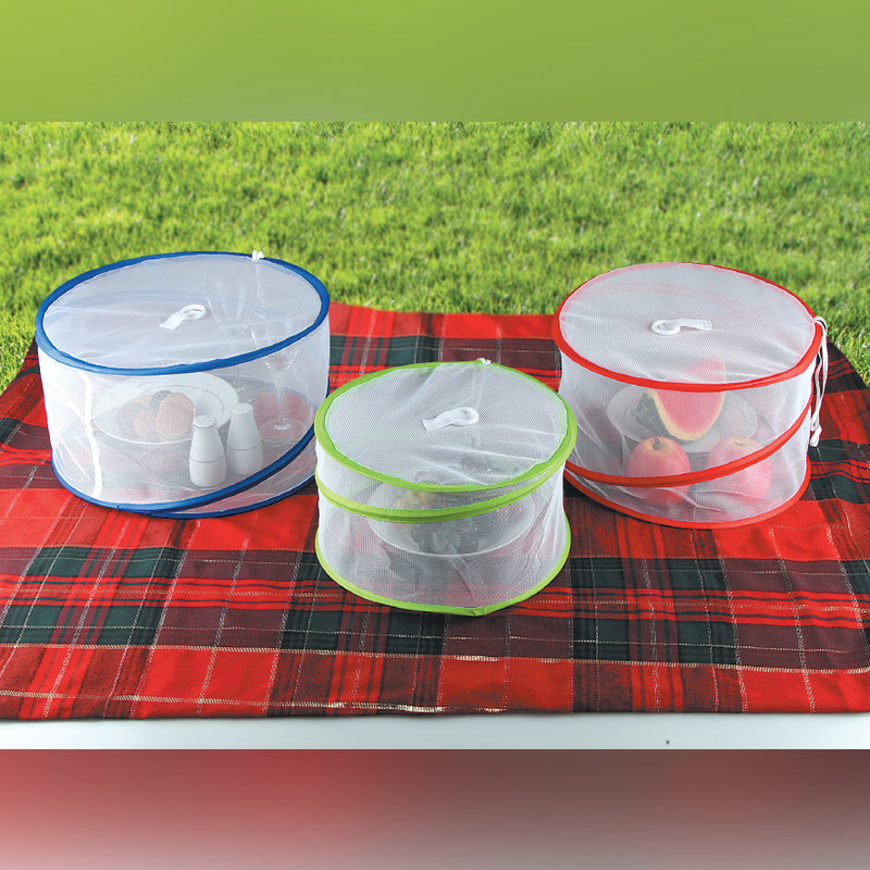 3 PIECE POP-UP MESH FOOD COVERS