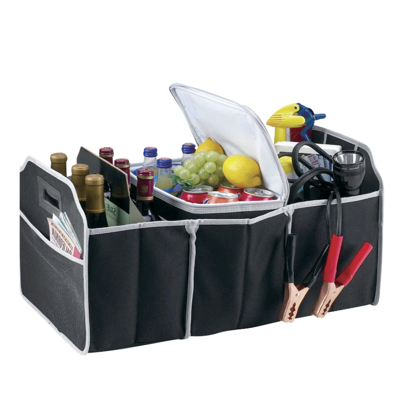 COLLAPSIBLE CAR BOOT ORGANISER AND COOLER SET