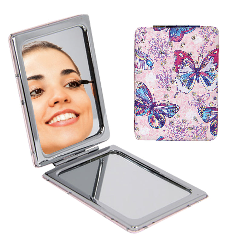 BUTTERFLY DESIGN COMPACT MIRROR