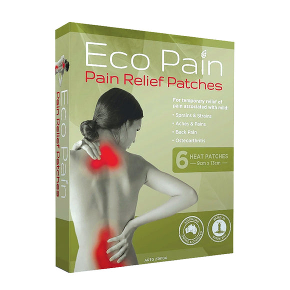 PACK OF 6 ECO PAIN RELIEF PATCHES