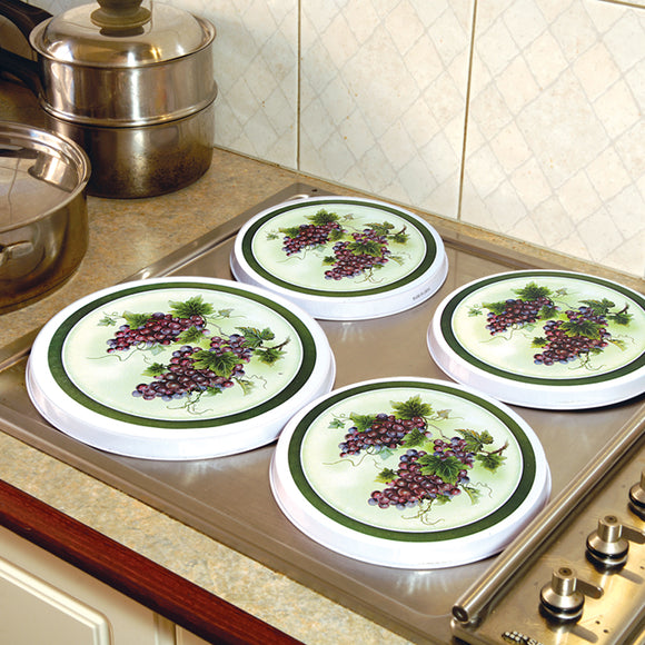 SET OF 4 STOVE TOP COVERS