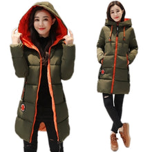 Load image into Gallery viewer, Winter Jacket Women's Parka Coat Long Down Jacket