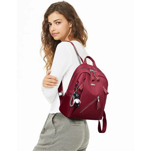 Multi-Pocket Nylon Fashion Backpack for Teenager Girls