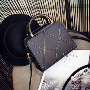 Retro Geometric Shoulder Bag