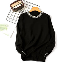 Load image into Gallery viewer, Autumn Winter Women Beaded Elegant Sweater O-Neck