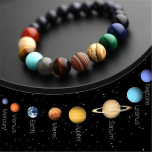 Eight Planets Bead Bracelet  Natural Stone Universe
