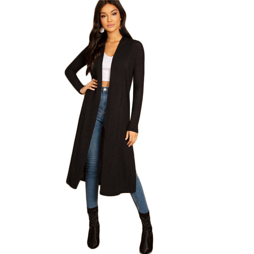 Long Sleeve Cardigan Outerwear Coat