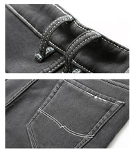 Load image into Gallery viewer, Men's Warm Gray Jeans High Quality Elasticity Slim Denim Jeans