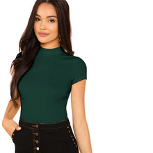 Load image into Gallery viewer, Casual Rib Knit Crop Round Neck Top