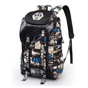 Graffiti Laptop Canvas Backpack/School Bag