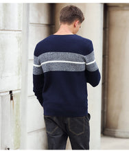 Load image into Gallery viewer, Men's Striped Pullover Fashion Sweater